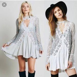 Free People Telltale Lace Tunic Dress